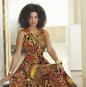 Emelie Brown Afrocentric Dress by Ashro